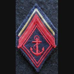 LOSANGE DE BRAS MODÈLE 45 : modèle 1° classe infanterie coloniale ou troupes de Marine