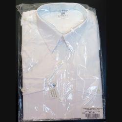 Chemise blanche neuve manche courte Léo Minor taille 39-40
