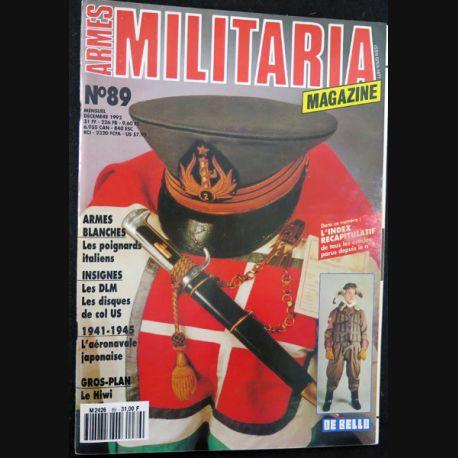 ARMES MILITARIA Magazine n° 89 de décembre1992 sur les insignes des DLM