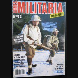 ARMES MILITARIA Magazine n° 92 de mars 1993 sur les insignes de la 19° DI