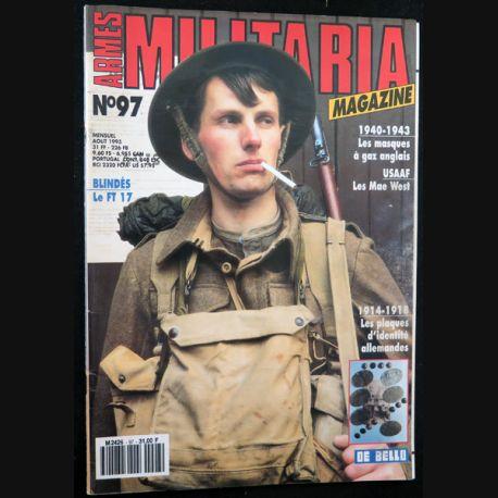 ARMES MILITARIA Magazine n° 97 de août 1993 sur le FT 17