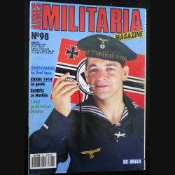 ARMES MILITARIA Magazine n° 98 de septembre 1993 sur la SS Polizei Division