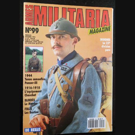 ARMES MILITARIA Magazine n° 99 de octobre 1993 sur les insignes de la 25° DP