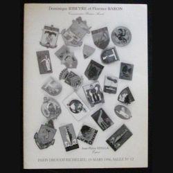 CATALOGUE RIBEYRE - BARON DROUOT 19 MARS 1996 (C83)
