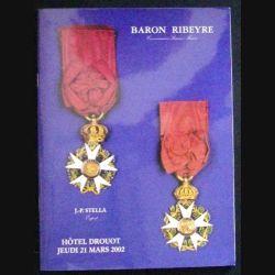 CATALOGUE RIBEYRE - BARON DROUOT 21 MARS 2002 (C83)