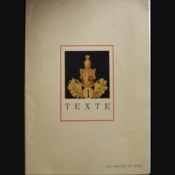 0. LES INSIGNES DU GÉNIE : Ce livre comprend une partie de texte et 39 planches en couleur du Major Dupire et réalisé par le service historique de l'Armée de terre en 1986 (C81)