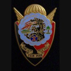 17° RGP : insigne de la 2° compagnie du 17° régiment du génie parachutiste (Boussemart)