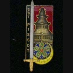 """PROMOTION ESOA EAI SERGENT PISSOT : insigne de la promotion """"Sergent Pissot"""" de l'école des sous-officiers d'active de l'école d'application d'infanterie fabriqué par Fraisse G. 3290"""