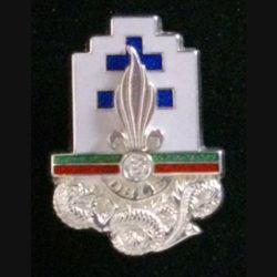 13° DBLE : insigne de la 13° demi brigade de la légion étrangère de fabrication Boussemart H.119 modèle prestige argenté