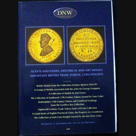 1. CATALOGUE DNW DE JETONS ET MÉDAILLES DÉC 2005 (C83)