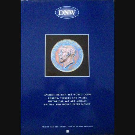 1. CATALOGUE DNW PIÈCES, MÉDAILLES, BILLETS SEPT 2000 (C83)