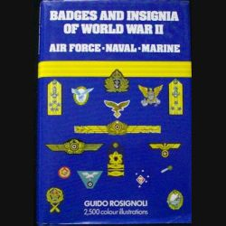 0. BADGES AND INSIGNA OF WORLD WAR II AIR FORCE-NAVAL-MARINE