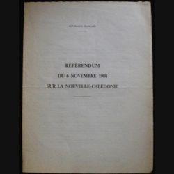 RÉFÉRENDUM DU 6 NOVEMBRE 1988 SUR LA NOUVELLE CALÉDONIE (C72)