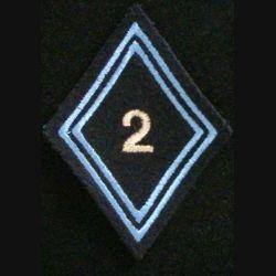 LOSANGE DE BRAS MODÈLE 45 : 2° régiment de hussards cadre avec crochets