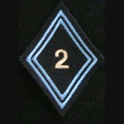 LOSANGE DE BRAS MODÈLE 45 : 2° régiment de hussards cadre