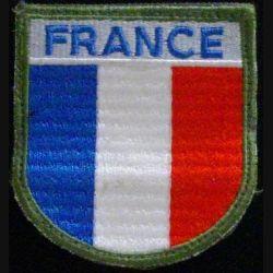 insigne de manche en tissu FRANCE bleu clair bout arrondi