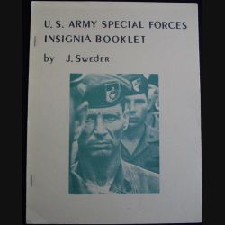 0. U.S ARMY SPECIAL FORCES INSIGNA BOOKLET BY J.SWEDER (C90)