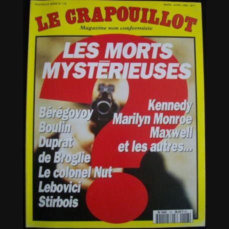 """1. LE CRAPOUILLOT """"LES MORTS MYSTÉRIEUSES"""" N°118 MARS AVRIL 1994 (C89)"""