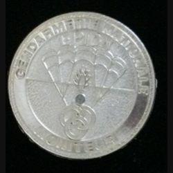 EPIGN : insigne métallique de brevet moniteur de l'escadron parachutiste d'intervention de la Gendarmerie nationale EPIGN de fabrication Boussemart est un tirage 2003 tirage tout métal prestige plaqué argent