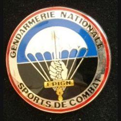EPIGN : insigne métallique de brevet de sports de combat de l'escadron parachutiste d'intervention de la Gendarmerie nationale EPIGN de fabrication Boussemart 2002