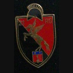 21° RG : insigne métallique du 21° régiment du génie de fabrication Drago G. 2904