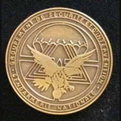 GSIGN : insigne de brevet du Groupement de Sécurité et d'intervention de la Gendarmerie Nationale de fabrication Y. Boussemart GNS 002 modèle tout bronze