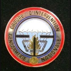 GIGN : insigne du Groupe d'intervention de la gendarmerie nationale de fabrication JMM G. 2530 fond argenté