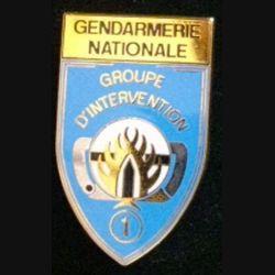 GIGN : brevet 30° anniversaire 1974-2004 groupe d'intervention de la gendarmerie nationale JMM fond bleu
