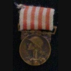 FRANCE : MÉDAILLE COMMÉMORATIVE 1914-18 EN RÉDUCTION BRONZE
