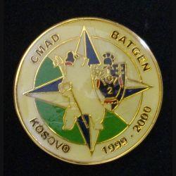 2° RG : insigne métallique de la compagnie d'aide au déploiement du 2° régiment du génie BATGEN Kosovo 1999-2000