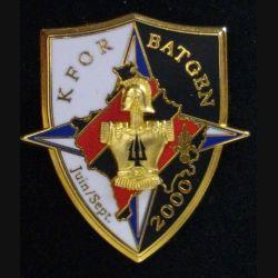 2° RG : insigne métallique du 2° régiment du génie KFOR BATGEN JUIN SEPT 2000 de fabrication LR Paris NUMÉROTÉ