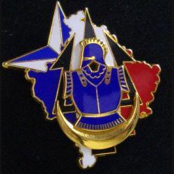 19° RG : 19° régiment du Génie au Kosovo Trident de fabrication Boussemart 2001 dos grenu et doré