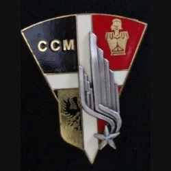 1°RI CCM : insigne de la compagnie de contre mobilité du 1° régiment d'infanterie de fabrication Delsart
