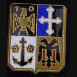 10° RG : insigne métallique du 10° régiment du génie de fabrication Drago  G. 461 en émail