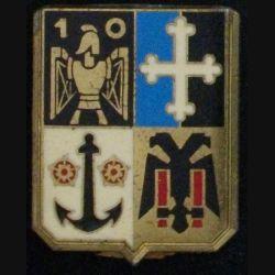 10° RG : insigne métallique du 10° régiment du génie de fabrication Delsart  G. 461 sans attache