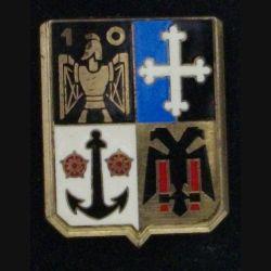 10° RG : insigne métallique du 10° régiment du génie de fabrication Delsart  G. 461