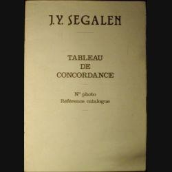 0. TABLEAU DE CONCORDANCE N°PHOTO ET RÉFÉRENCE CATALOGUE
