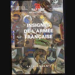 0. CATALOGUE N°1 COTATION  BLASOR INSIGNES ARMÉE FR 1996-1997