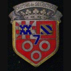 CDS N°7 : CENTRE DE SÉLECTION N°7 ÉMAIL