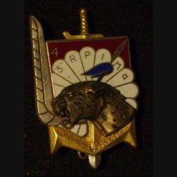 3° RPIMA : insigne métallique de la 4° compagnie type 2 Bir-Hakeim du 3° régiment parachutiste d'infanterie de Marine de fabrication Fraisse Paris