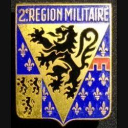 2°RM : 2°RÉGION MILITAIRE ÉMAIL (2 BOLÉROS)