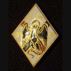 4° REI : insigne de la 3° compagnie du 4° régiment étranger d'infanterie CAMERONE émail Dago Paris sans récit