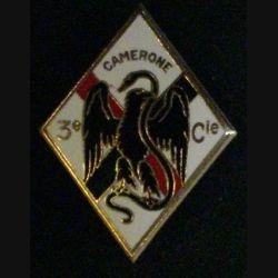 4° REI : insigne de la 3° compagnie du 4° régiment étranger d'infanterie CAMERONE émail Dago R 75