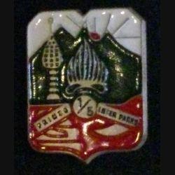 5° REI : insigne du 1° bataillon du 5° régiment étrager d'infanterie petit modèle de fabrication Drago R 77 peint