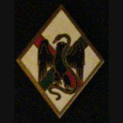1° REI : insigne du 1° régiment étranger d'infanterie de fabrication Publideal G. 1198 en émail épingle collée