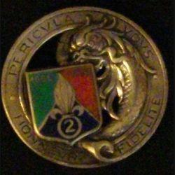 2° REC : insigne du 2° régiment étranger de cavalerie de fabrication Drago Paris (refrappe non mentionnée ?)