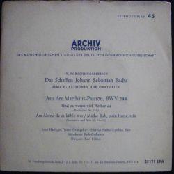 DISQUE 45 TOURS : ARCHIV PRODUKTION JOHANN SEBASTIAN BACHS (C72)