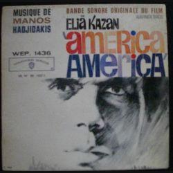 DISQUE 45 TOURS : BANDE SONORE ORIGINALE DE AMERICA DE ELIA KAZAN (C72)