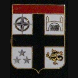 7° DB IFOR : insigne métallique de la 7° division blindée opération IFOR de fabrication Delsart