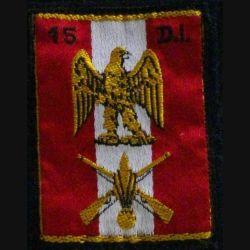 15° DI : insigne tissu de la 15° division d'infanterie